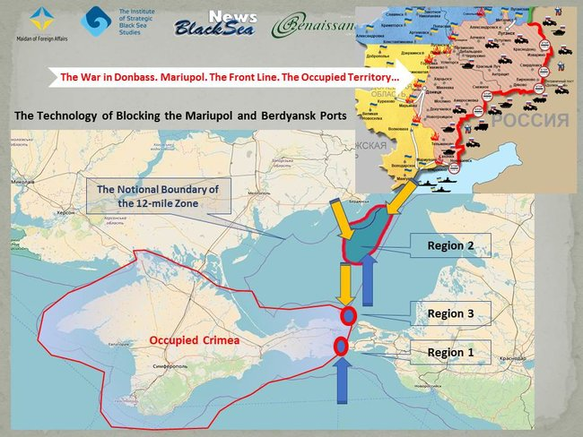 Russia's economic war against Ukraine: statistics on Mariupol, Berdiansk ports blockade by Moscow.