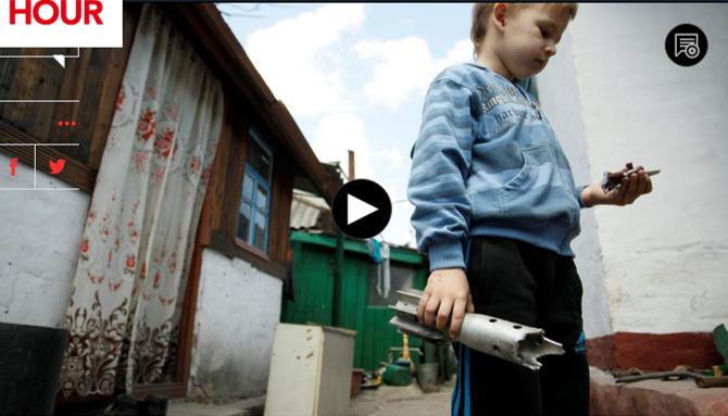 School children are targets in the war in Eastern Ukraine.