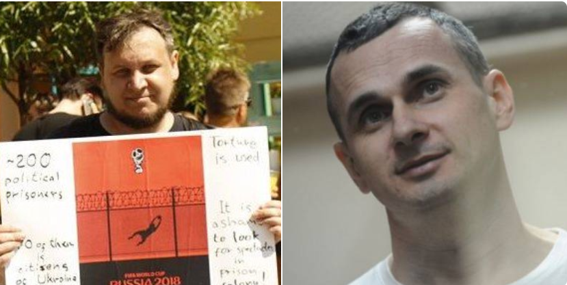 Russian jailed for defence of Sentsov, Balukh and other political prisoners during World Cup.