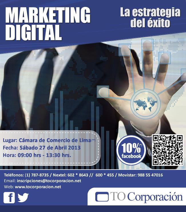 Marketing Digital: La estrategia para el éxito - 27 de Abril - Publicidad