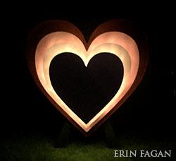 Heart art photo by Erin Fagan