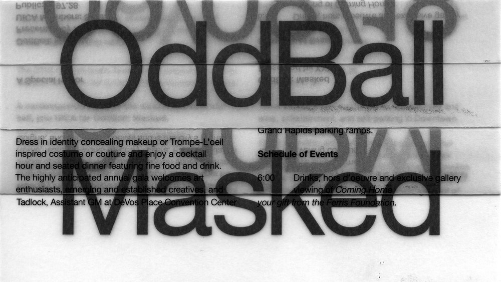 Text graphic reading Oddball Masked