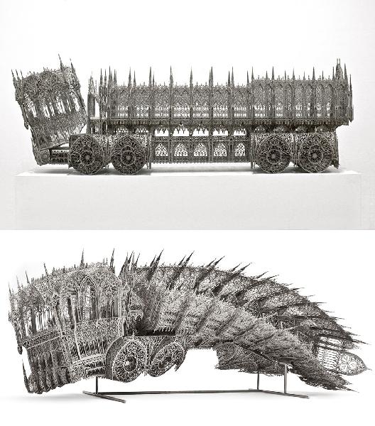 Dump Truck, Laser-cut corten steel, Gary Tatintsian Gallery, Moscou, Studio Wim Delvoye