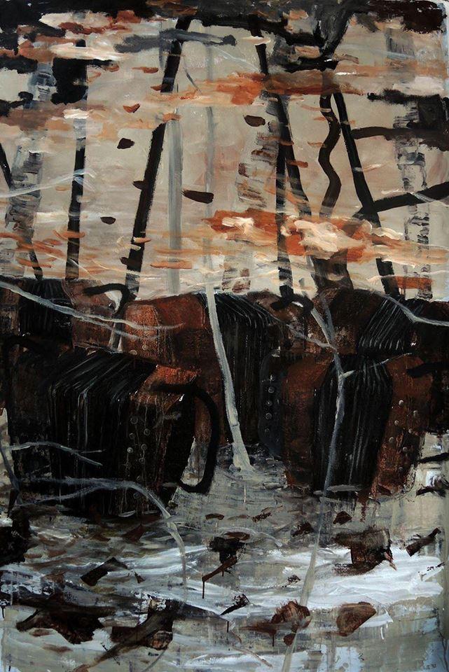 Soundtracks, Huile & émulsion sur toile, Philippe Thomarel©