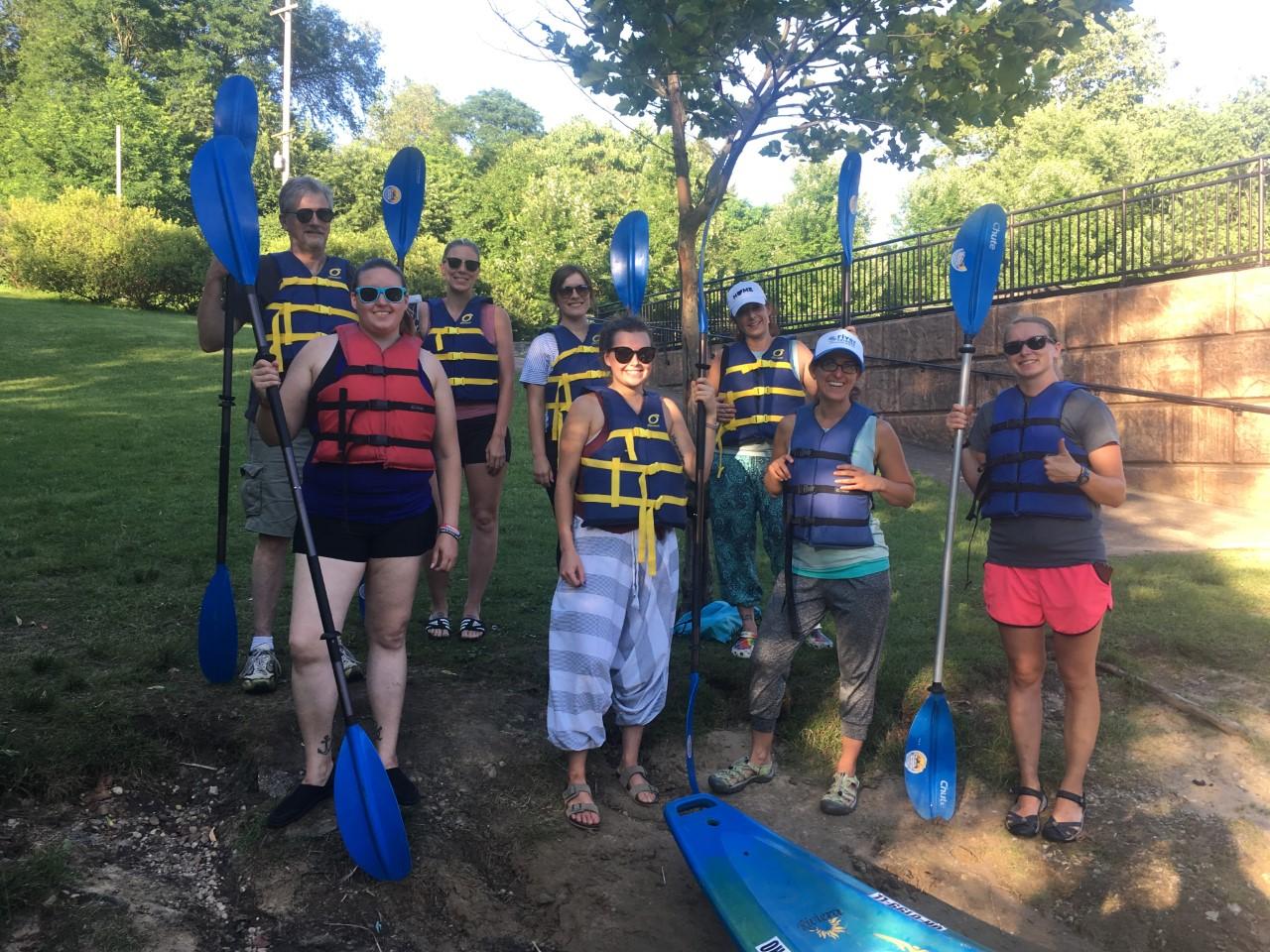 Kayaking yogis @ Cuyahoga River | July 2019