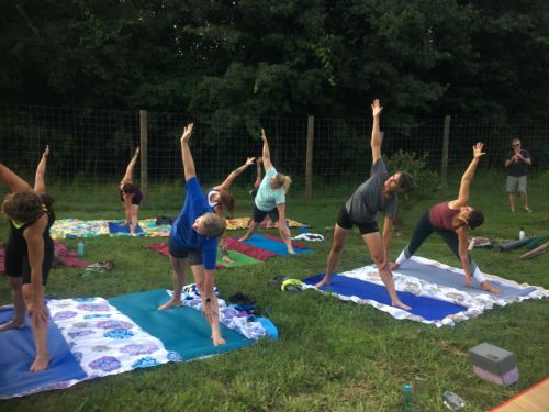 Yoga @ Greenfield Berry Farm, Aug 2018