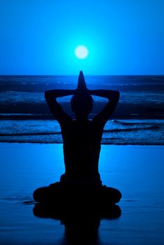 yoga by moonlight