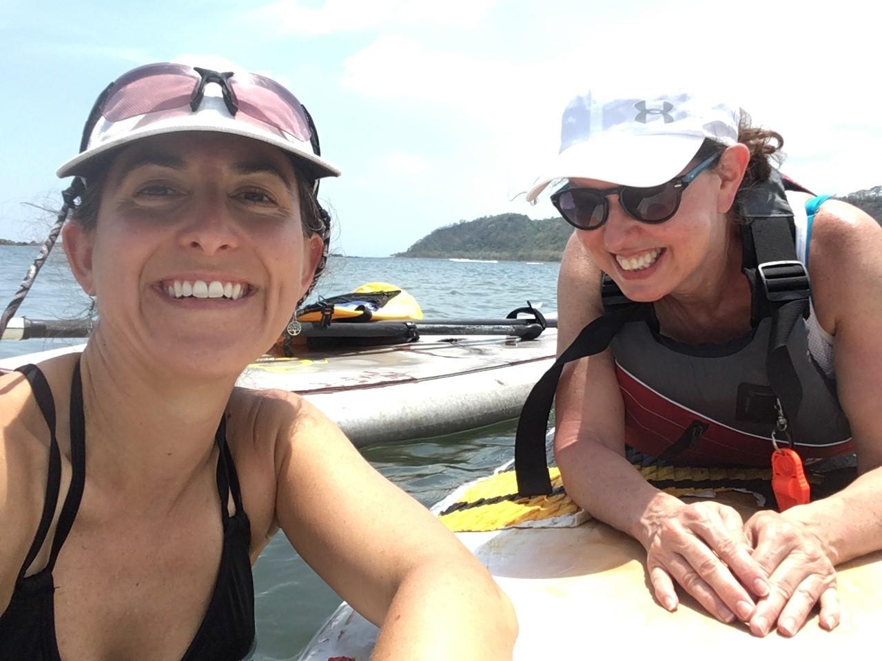 Lisa and Colleen @ Sansara Yoga & Surf Resort, Panama April 2018