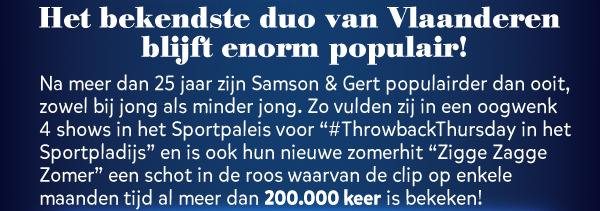 Het bekende duo van Vlaanderen blijft enorm populair!