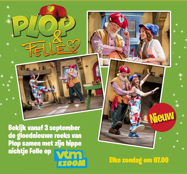 Plop & Felle, vanaf 3 september de gloednieuwe reeks van Plop samen met zijn hippe nichtje Felle.
