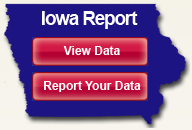 Iowa Report data logo in the shape of the state of Iowa