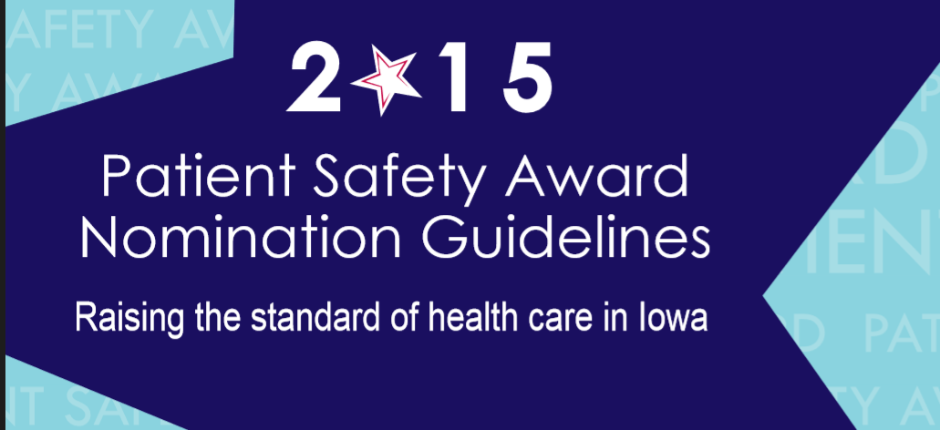 2015 Patient Safety Award Nomination Guidelines