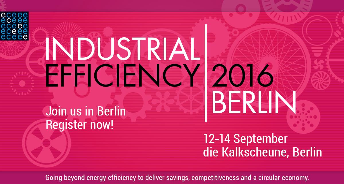 Industrial Efficiency 2016, programme and speakers update