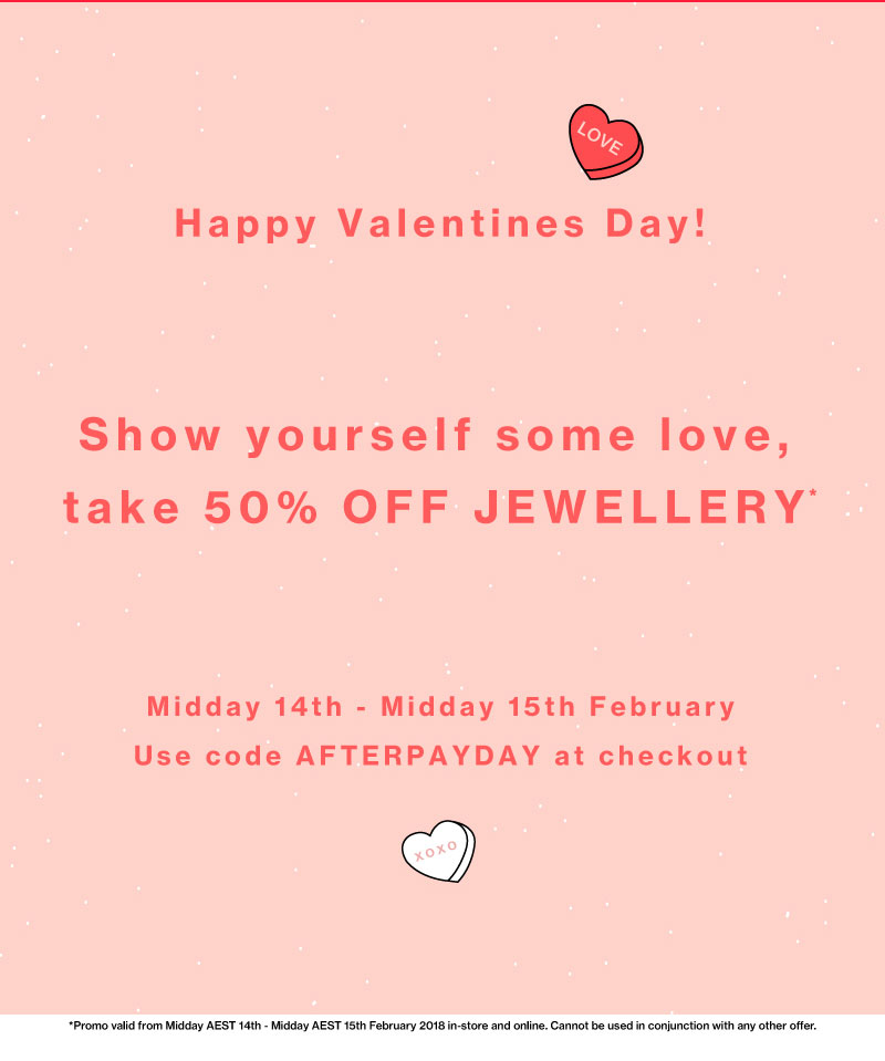 50% off jewellery at Tony Bianco