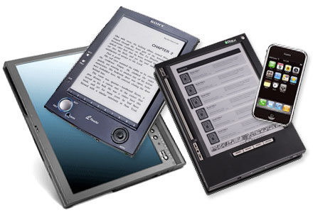 E-Readers for the e-book.