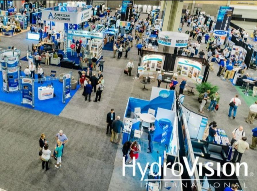 Aerial view of the HydroVision 2018 showcase floor