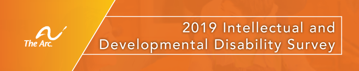 Banner of the 2019 Intellectual and Developmental Disability Survey