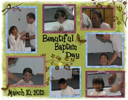 Baptism collage of Sonshine Hacienda baptisms