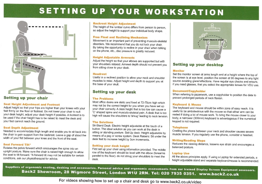 Is Your Work Station Set Up Correctly? Third Space Sports Medicine