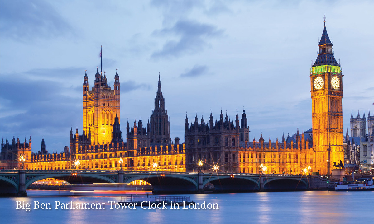 Parliament Tower Clock in London