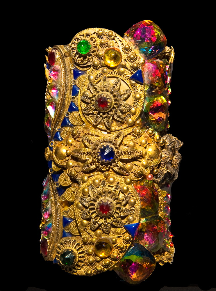 Jeweled Museum cuff by Wendy Gell