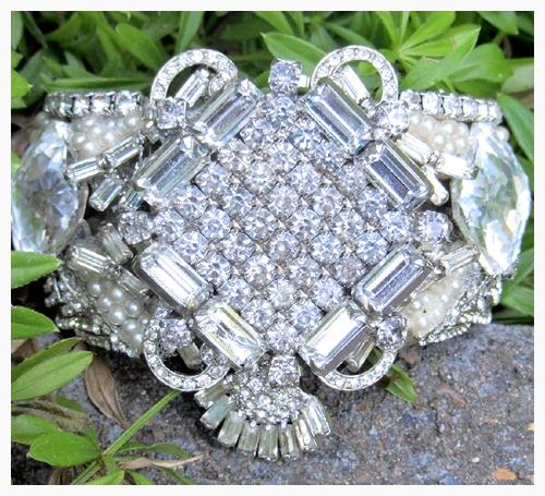 Ornate Bridal Cuff by Wendy Gell