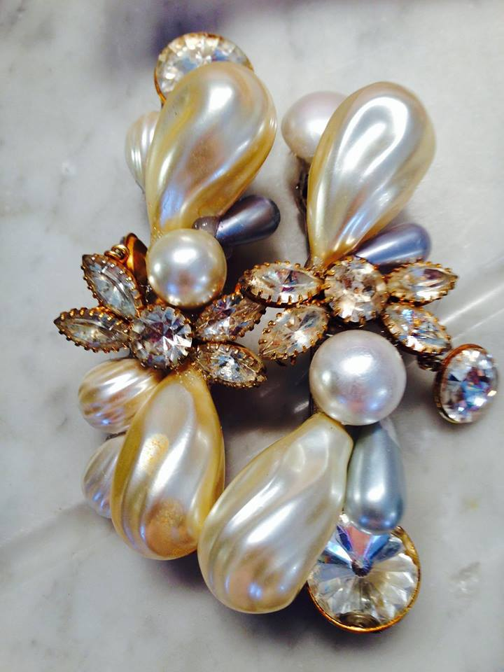 Pearl Barrettes made for Judy Collins, commissioned by a fan of Judy's