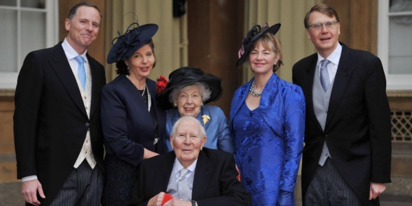 Sir Roger Bannister invested as a Companion of Honour at Buckingham Palace