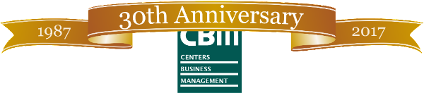 CBM 30th Anniversary logo