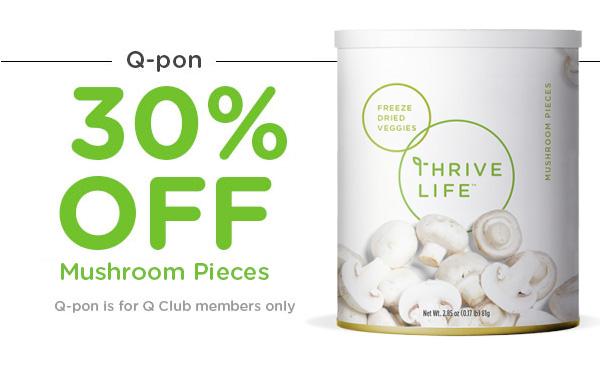 Q-Pon 30% Off Mushroom Pieces
