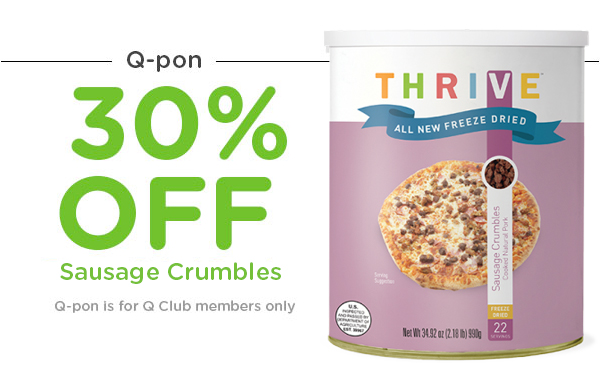 Q-Pon 30% Off Freeze-Dried Sausage Crumbles