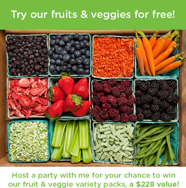 Try our fruits and veggies for free!