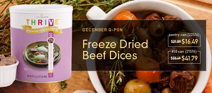 Freeze Dried Beef Dices