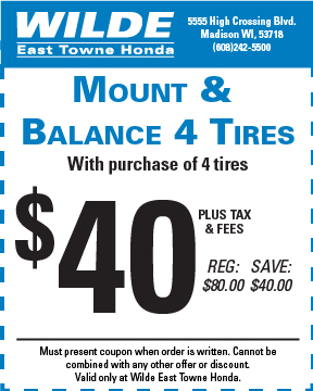 Service Mount and Balance 4 Tires