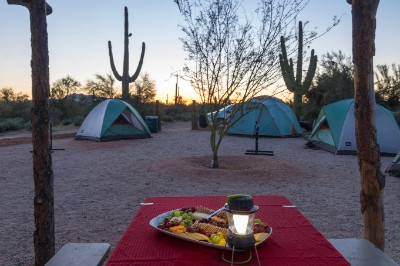 camping at McDowell Mountain Regional Park with AOA