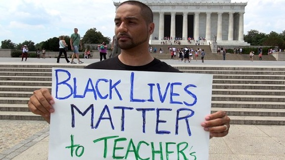 (Picture: Jesse Hagopian at the S.O.S rally in Washington, D.C.