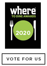 VOTE FOR US FOR WHERE TO DINE