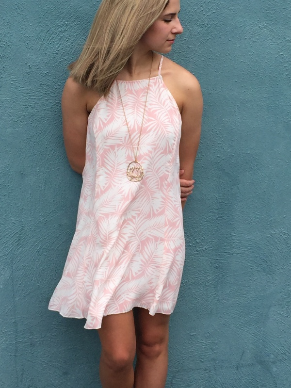 Sunkissed Palm Dress Sassy Shortcake Boutique