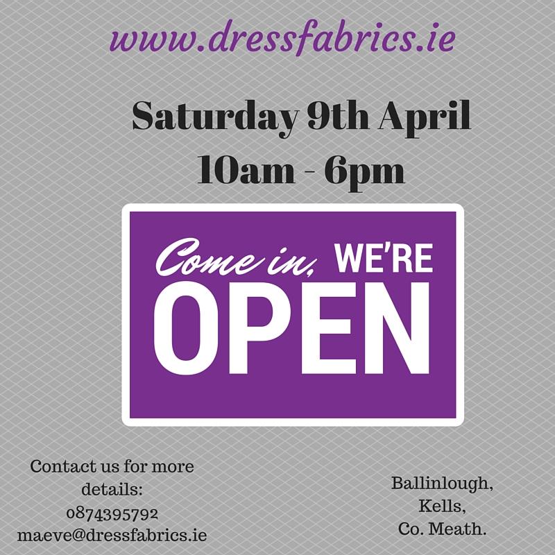 Dress Fabrics Open Day