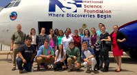 Students with NSF/NCAR C-130 aircraft