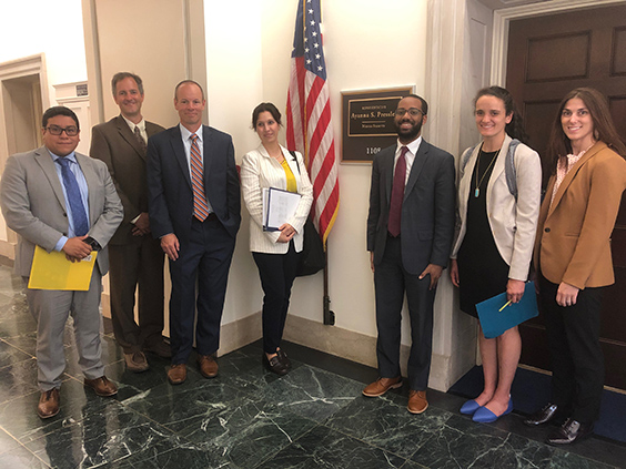 UCAR visitors outside Congress member's office