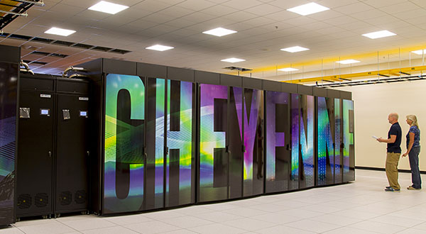 NCAR's supercomputer, Cheyenne, is located in Wyoming