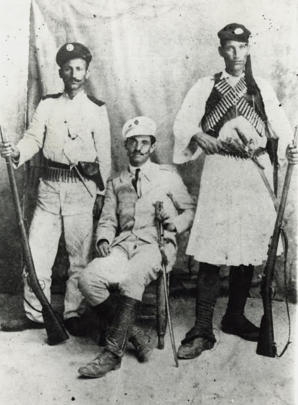 Ikarian Soldiers in Agios Kirykos - November of 1912. Source: Ikarian Archives