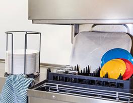 Kitchen equipment dishwasher rack basket white marble serving tray Roltex