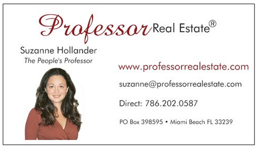 Suzanne Hollander Professor Real Estate® TV  Real Estate Resolutions for New Year :)