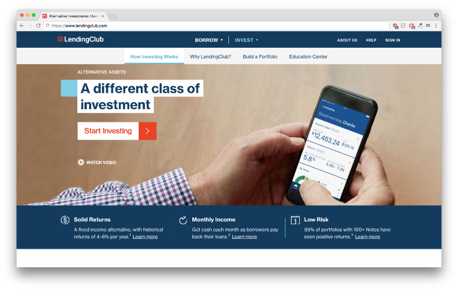 Lending Club - an online platform to buy unsecured notes
