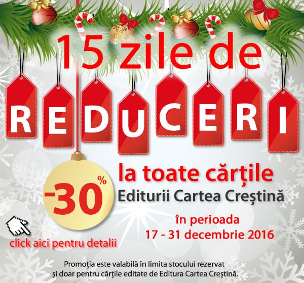 Reduceri de 30% si 40% pentru toata gama de carti la Editura Cartea Crestina