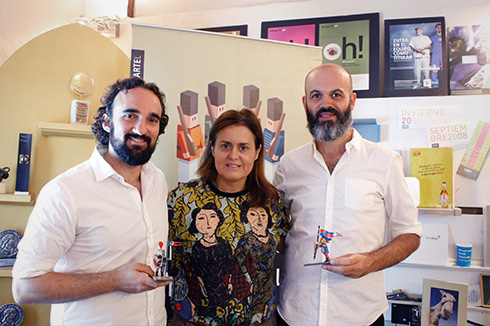 Javier Hirschfeld, Pilar Ruiz-Rosas y Alfonso Silva