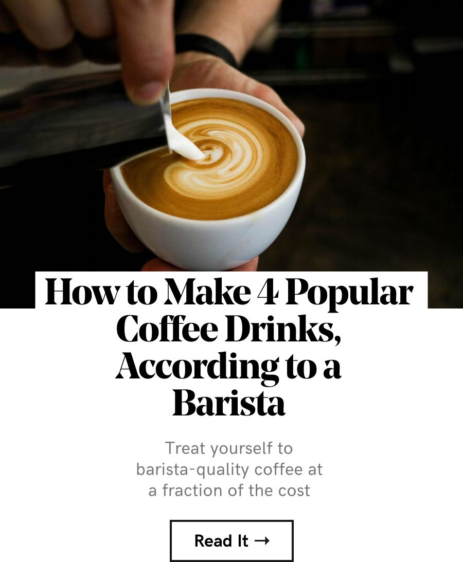 Treat yourself to barista-quality coffee at a fraction of the cost