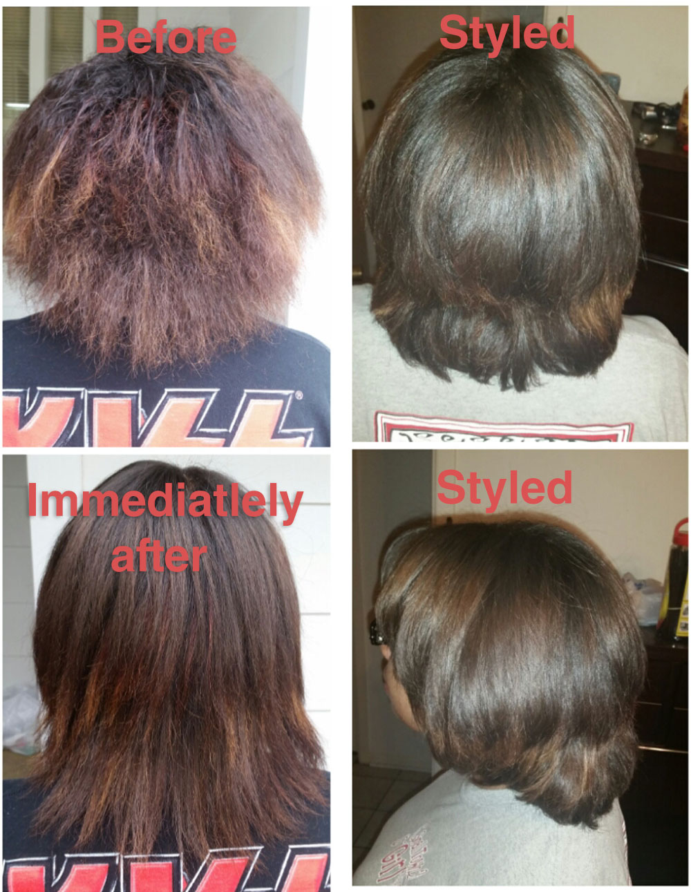 KERATIN BEFORE & AFTER PICS